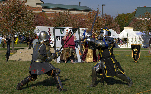 dueling knights at the Ren Faire