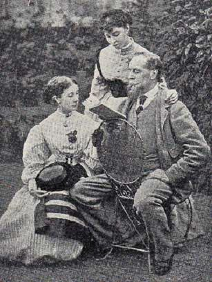 Dickens reads to his daughters