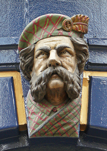 a Scotsman on an arch